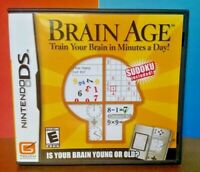 Brain Age - Train Your Brain  Nintendo DS DS Lite 3DS 2DS Game Complete + Tested