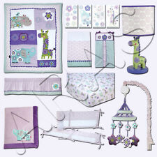 Carter's Zoo Collection 10 Pc. Crib Bedding Set (Includes Lamp, Liner & Blanket)