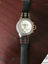 NEW Techno Master TM-2121 Two TONE Men's Watch  1/4 CTS  Diamond