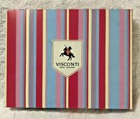 New, Boxed - Visconti Blue Multi Rainbow Soft Leather Wallet/Purse For Ladies