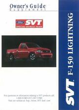 2000 Ford Truck F-150 SVT Lightning Owners Manual Supplement User Guide Operator