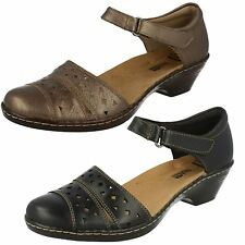 Ladies WENDY LAUREL Leather riptape ankle strap shoe BY Clarks