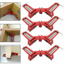 4X Metal 90° Right Angle Clip Clamps Corner Holder Woodworking Hand Diy Tool Set