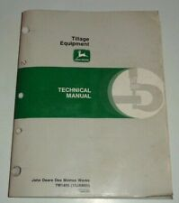 John Deere Plow Cultivator Chisel Disk Harrow Mulch Tiller Hoe Technical Manual