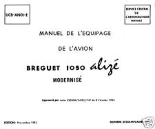 BREGUET 1050 ALIZE Historic Manual Rare Detail 1980's ASW Tradewind Navy Alizé