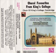 CHORAL FAVOURITES FROM KING'S COLLEGE Cambridge - Cassette - Tape   SirH70