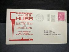 Submarine USS CHUBB SS-329 Naval Cover 1944 HERALD WWII COMMISSIONED Cachet