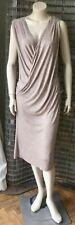 All Saints beautiful Natural Taupe Midi Wool Blend Scala dress, size UK 10