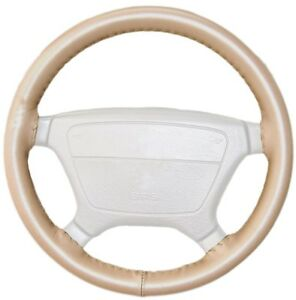 Wheelskins Oak Genuine Leather Steering Wheel Cover for Ford (Size AX)