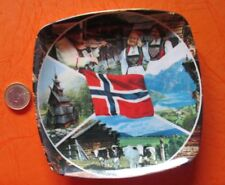 Norway National Flag,  Plastic Plate