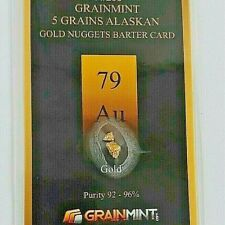 More details for 5,grains of authentic alaskan gold nuggets in sealed investment card  free shipp