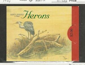 Singapore, Postage Stamp, #695a Booklet Mint NH, Bird Heron, JFZ