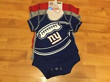 B76 New York Giants Baby Girls 3 Pack Bodysuit 12 Months 3 Different Suits