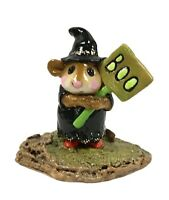 Wee Forest Folk Halloween Little Boo Boo, M-214 1996, retired 2005, With Box
