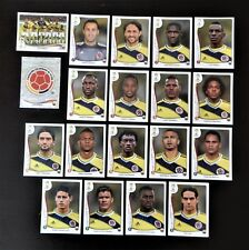 Panini FIFA World Cup Brazil 2014 Complete Team Columbia + Foil Badge