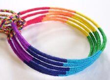 Lot 5 Bracelets Bresiliens de l'Amitié Macramé coton Friendship rainbow