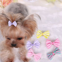 New Pet Hair Clips Dogs Puppy Bowknot Topknot Hairpin Headwear Grooming Bows