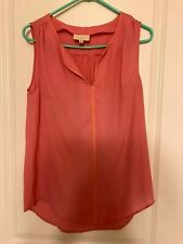 ModCloth Pink Sleeveless Silk Blouse Top Womens Size Medium Light Summer Clothes