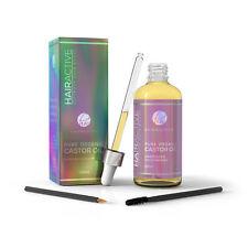 Hairworthy 100% Organic, Cold-Pressed, Castor Oil for Hair, Eyelashes & Eyebrows