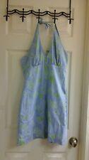Lilly Pultizer, summer dress, blue & green, fruit print, women's Size 2, halter