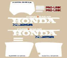 honda XL 125 R Paris Dakar serie adesivi series stickers