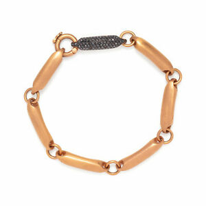 Modern 1.25 Carat Black Diamonds Rose Gold 18K Men's Bracelet