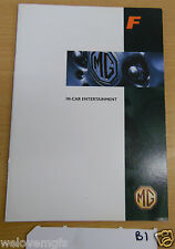 MGF In-Car Entertainment  Book as Pictured  book B1