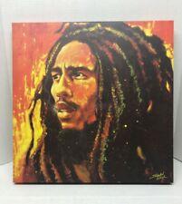 "Stephen Fishwick Signed Bob Marley Canvas Painting 20""x20""  Wall Art"