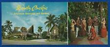 SOUTH PACIFIC RESTAURANT, TIKI POSTCARD, WIDE  = HALLANDALE FLORIDA