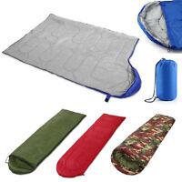 3 Season Sleeping Bag Single Adult Waterproof Camping Hiking Suit Case Envelope