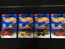 4 Hot Wheels Fire Squad Series 1995  Ambulance Rescue Ranger Flame Stopper Eater