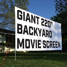 "Backyard Movie Theater Screen - Giant 16'x9' 220"" - FREE Shipping"