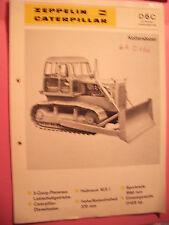✪Sales Brochures Bagger PROSPEKT Zeppelin Caterpillar D6C Kettendozer