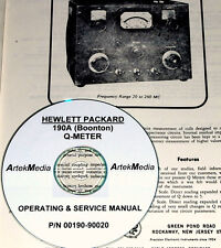 HP - BOONTON 190A Q-METER Operating  & Service manual