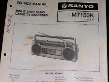 Sanyo M7150K M-7150K Cassette Recorder Service Manual