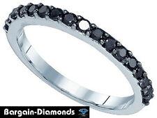 black diamond .50 carat wedding anniversary 10K gold ring enhancer birthday love