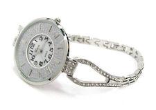 Silver Crystal Bling Face Thin Bracelet Women's Jewelry Watch