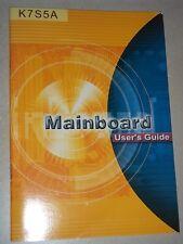 Anleitung, Handbuch für MainBoard Elitegroup  K7S5A  technische Manual Heft