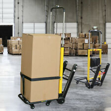 Stair Climbing Hand Truck Electric Power 440lb Load 6 Wheel Folding Cart Dolly