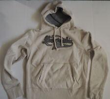 A&F Abercrombie Fitch off white Hoodie Sweatshirt - Medium - Vintage Destroyed
