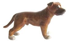 Miniature Porcelain Staffordshire Bull Terrier Figurine 3.5cm High