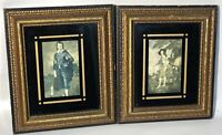 Vintage Antique Black and Gold Ornate Picture Framed Art Works