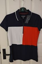 Womens Tommy Hilfiger Polo Zip Up Shirt Size XS 6/8 Brand New