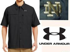 UNDER ARMOUR guides flat shirt short sleeve notre dame vented fishing hike men M