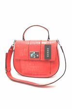 GUESS XBody Messenger Bag* Red ~ w/Crocodile Print Satchel Shoulder Purse New