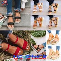 Fashion Women Sandals Platform Espadrilles Wedge Heels Open Toe Casual Shoes US