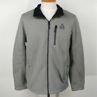 Gerry Gray Fleece Lined Jacket Full Zip Soft Shell Sweater Jacket Mens Size L