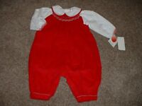 Petite Ami Baby Girls Boutique Christmas Longall Outfit Set Size 3 Months 3M NWT