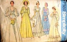 Simplicity Pattern 7389 Wedding Gown Bridesmaids Dress  Bridal 1976