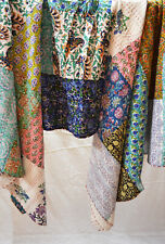 Indian Cotton Hand Block Printed Twin Kantha Quilt Patchwork Bedspread Assorted